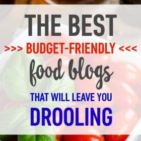 Check out these food blogs to help you save money on groceries AND cook delicious meals!