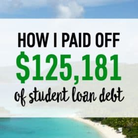 Paying off six figures of student loan debt is no easy task. Find out how I paid it all off with the Debt Snowball Method (Dave Ramsey) and a 401(k) loan.