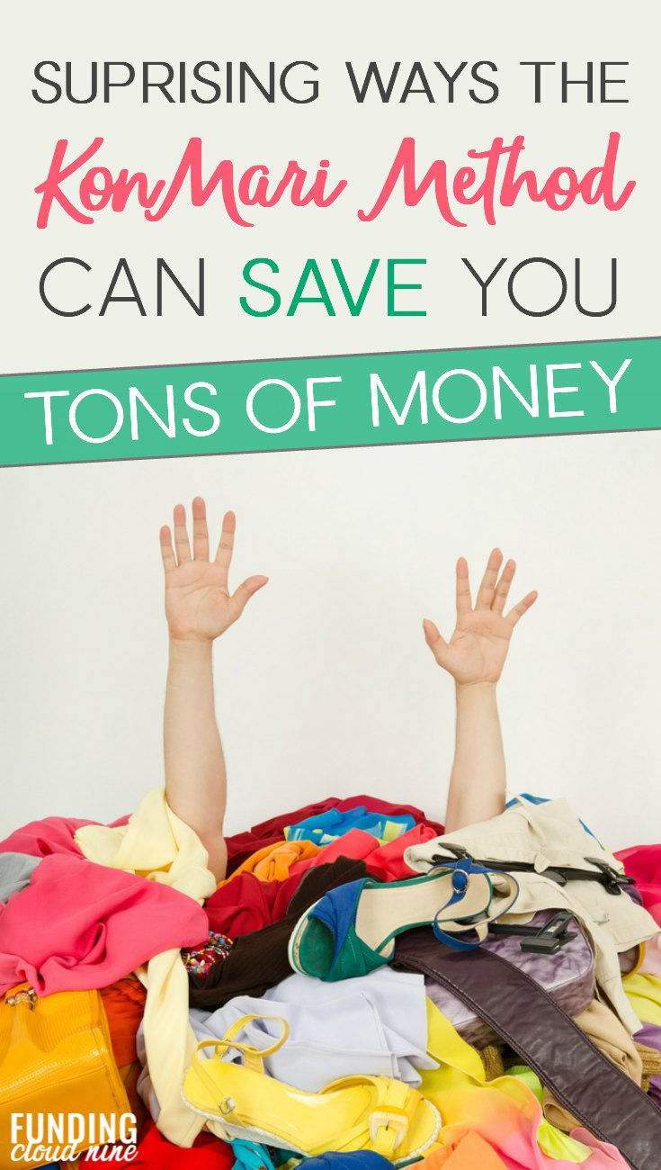 We all know that the KonMari Method can help us declutter and get organized. But implementing Marie Kondo's method had another surprising bonus for me - it saved me tons of money! Find out how I saved money with the KonMari Method and get some great money saving tips and ideas.