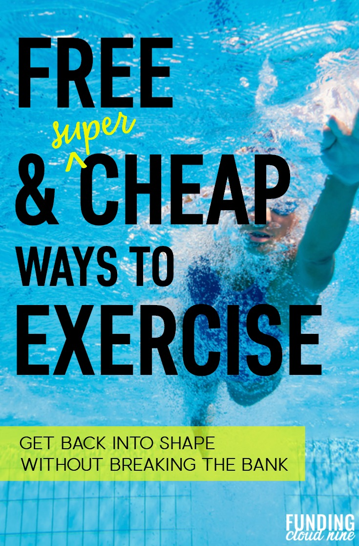 Say goodbye to those $18 yoga classes! Learn some great tips and ideas for how to exercise on a budget! 10 different ideas for cheap and free ways to exercise.