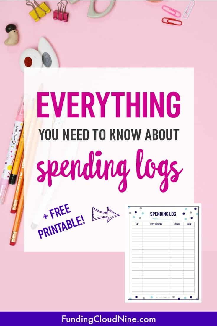spending logs a complete guide with a free printable funding cloud nine. Black Bedroom Furniture Sets. Home Design Ideas