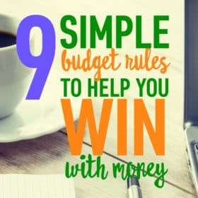 9 Simple Budget Rules to Help you Win with Money