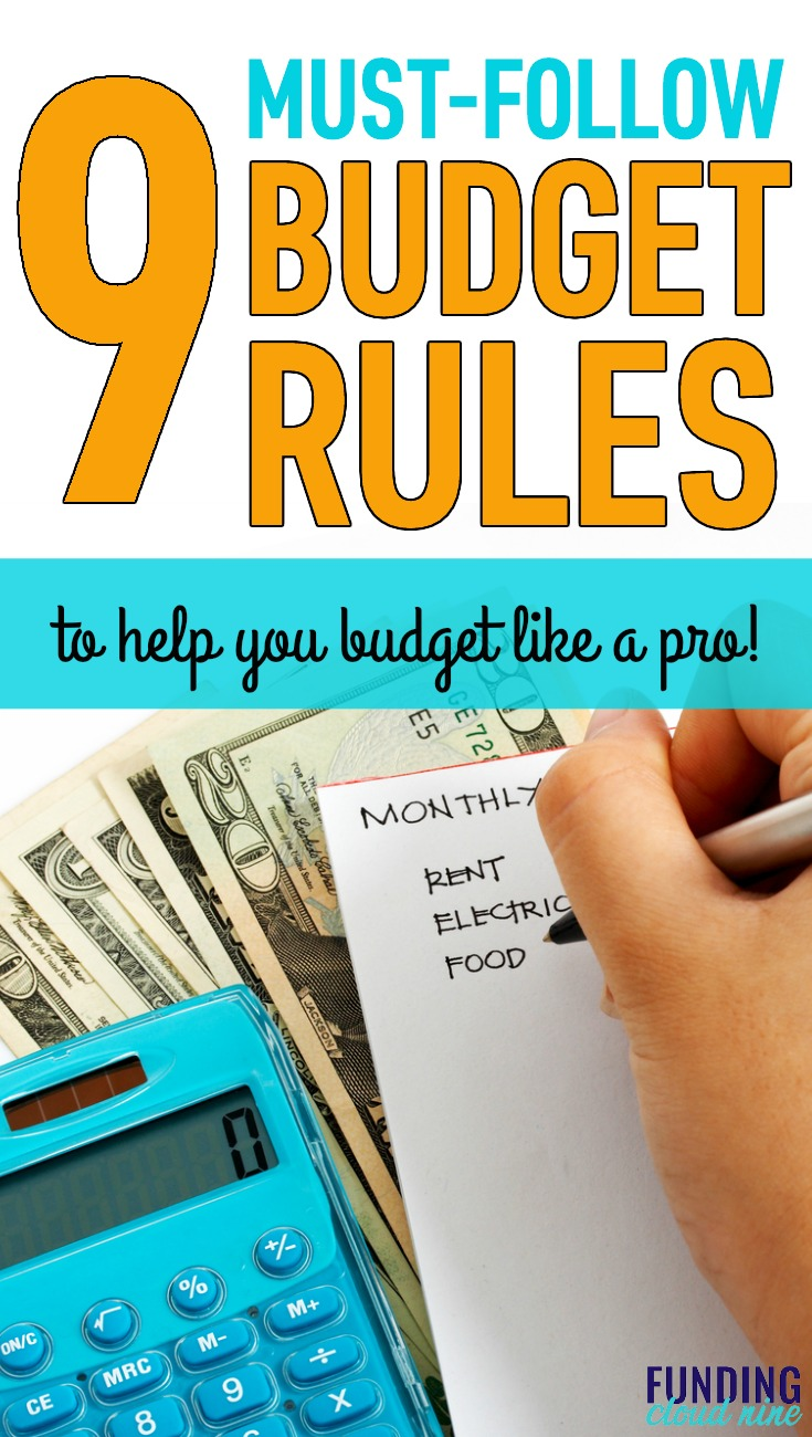 Check out these simple and easy-to-follow budget rules to help you rock your budget and start winning with money!