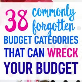 These commonly forgotten budget categories can make you go over budget month after month. Fix your budget once and for all by including these forgotten budget items.