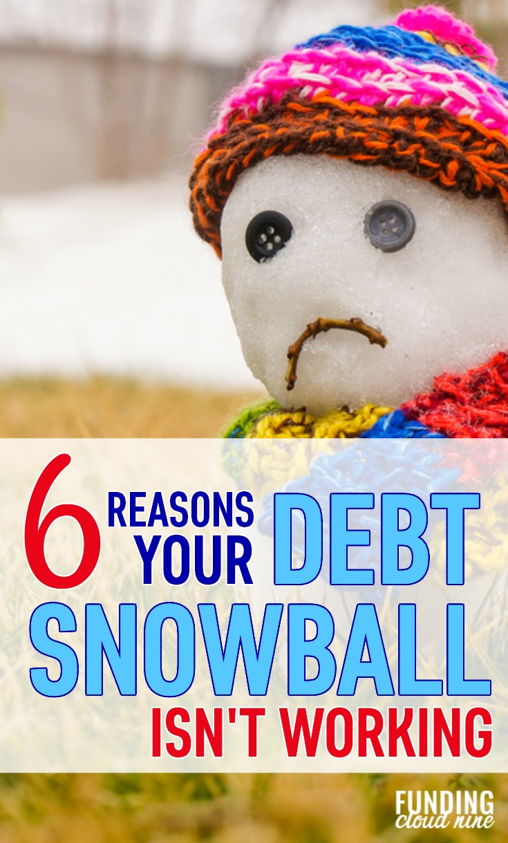 Is your debt snowball refusing to roll? While the Debt Snowball Method is a great way to pay off debt, it sometimes fails. Find out why and how to fix it. And don't forget to grab your debt snowball tracker worksheet for the ultimate motivation!