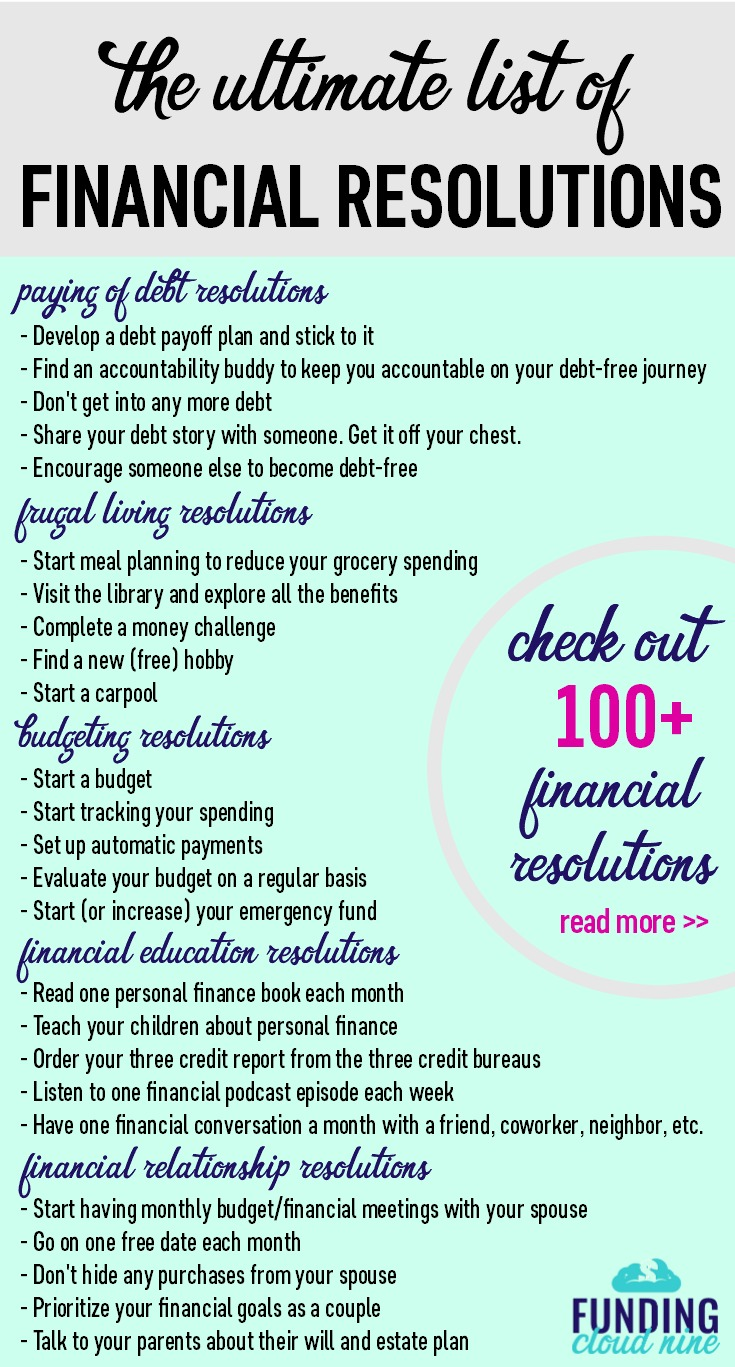 Makeover your money in 2018. Check out these awesome New Year's Resolutions ideas for some inspiration to take control of your finances. A list of over 100 financial resolution ideas!