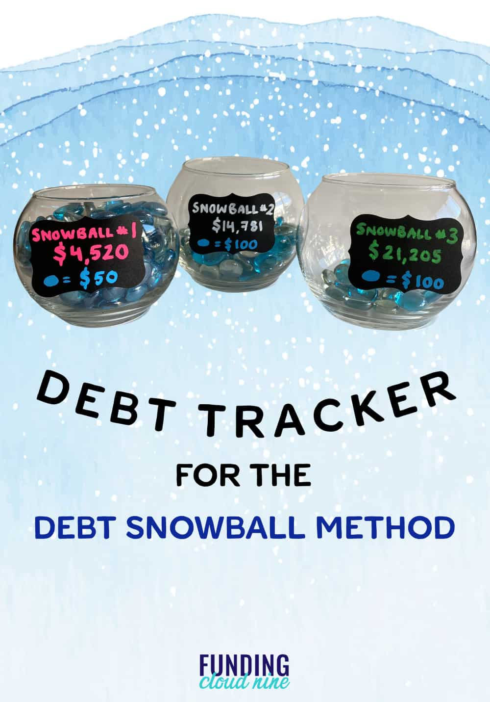 Try beads in a vase to help you track your debt. This is the perfect debt tracker for the debt snowball method!