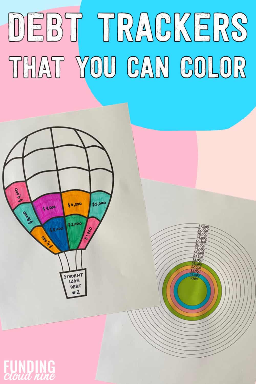 Color your way to debt-freedom with these coloring debt trackers
