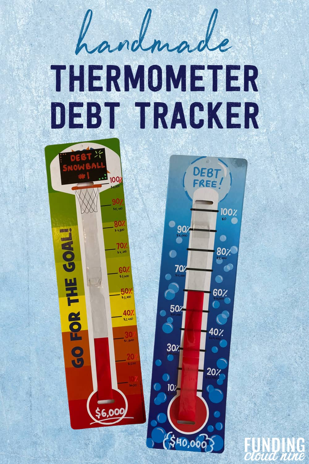 Stay motivated to pay off your debt by tracking your debt with a thermometer debt tracker